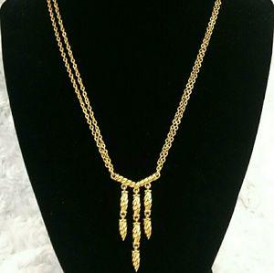 Vintage Napier Gold Tassel Necklace